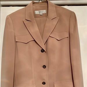 Tahari Tan Brown 2 Piece Pants Blazer Suit 8